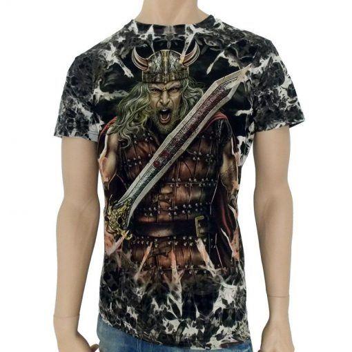 T-shirt med Viking Motiv , Viking T-shirt