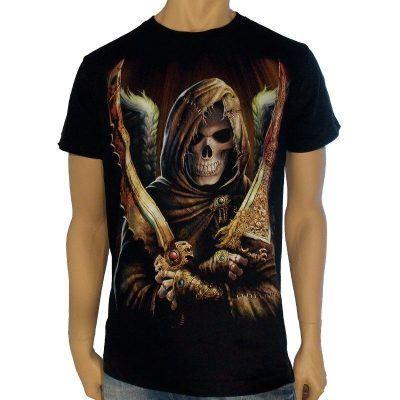 T-shirt med dödenmotiv dödsängeln
