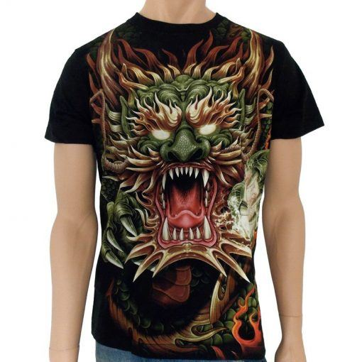 T-shirt med drake | Drak T-shirt