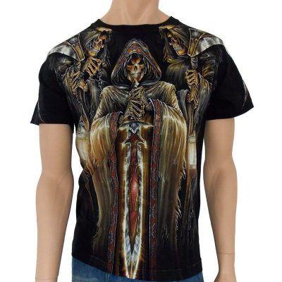 Döskalle T-shirt döskalle tryck Döden T-shirt